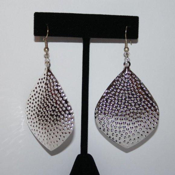 Beautiful silver dangle earrings nwot